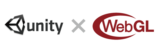 Logos of Unity and WebGL